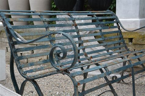 antique iron bench pair of antique english cast iron park benches detroit