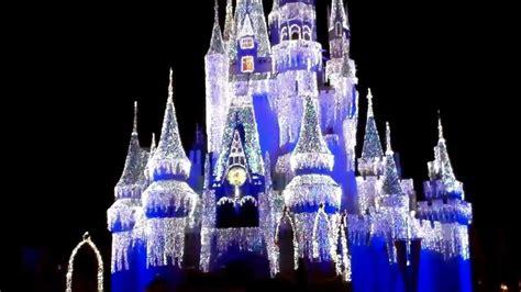 magic kingdom cinderella castle christmas lights walt