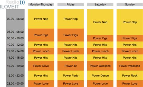 radio program schedule template image collections