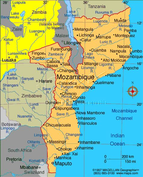 africa map mozambique mozambique holidays and accommodation bazaruto indian