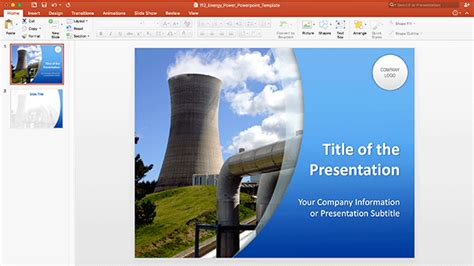 Energy Power PowerPoint Template
