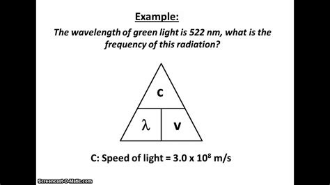 how do you measure the speed of light wavelength frequency equation