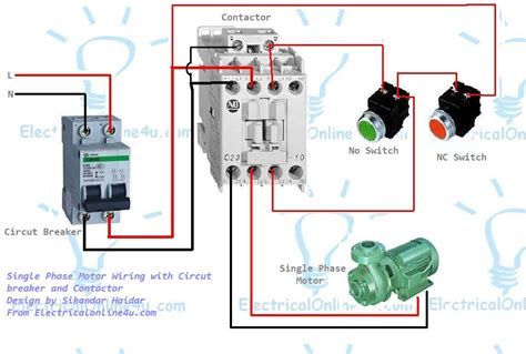 single phase magnetic starter wiring diagram air