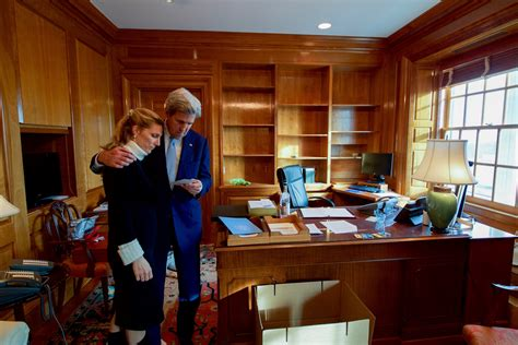 Office Of The Of State by Kerry Hugs His In His Office On His Fin