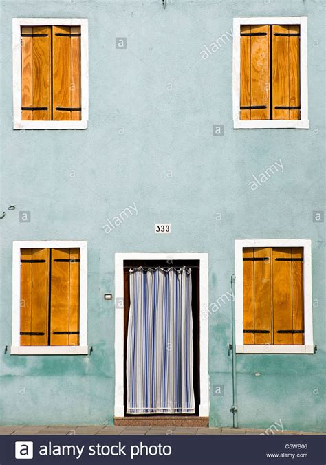 front curtain shutter italy venice burano house facade closed shutters
