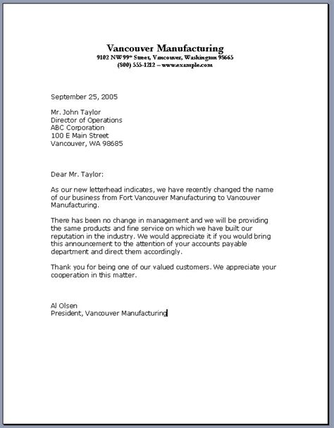 professional business letter template all templates
