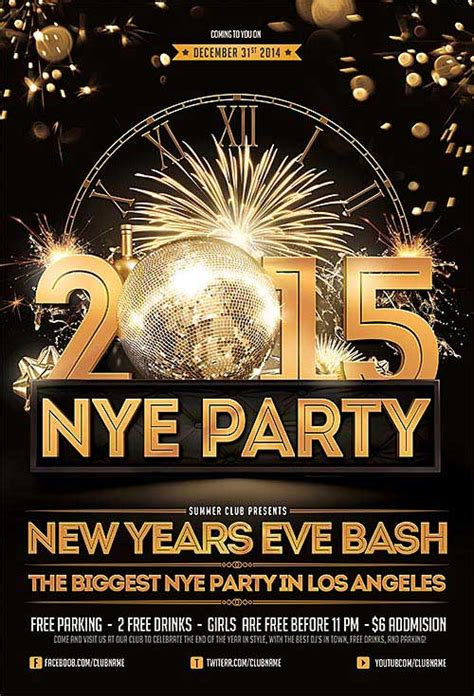 free new years flyer template the best free new year flyer psd templates for