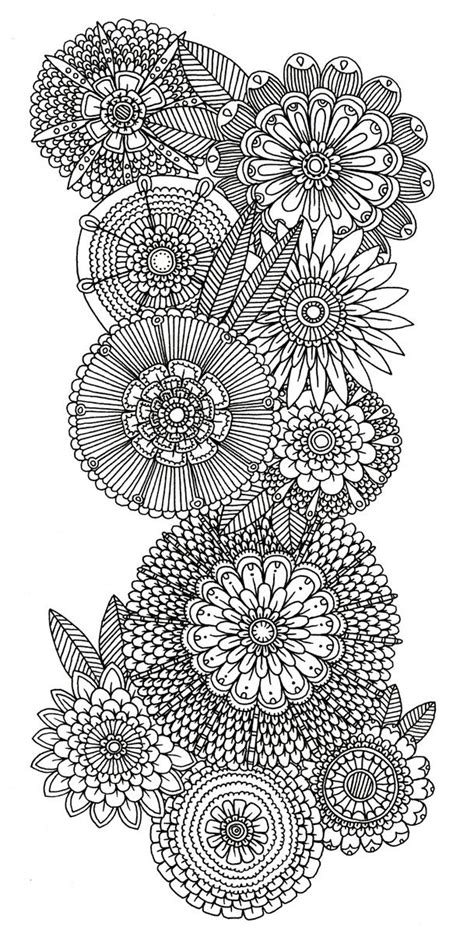 coloring pages abstract flowers abstract doodle flower coloring pages colouring adult