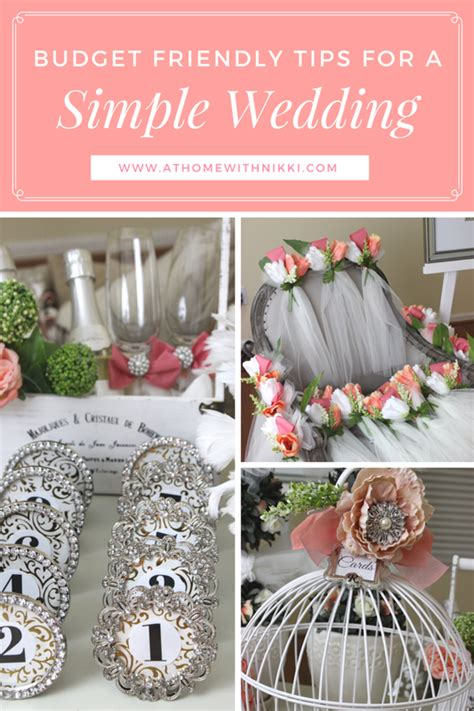 at home with how to plan a budget friendly wedding