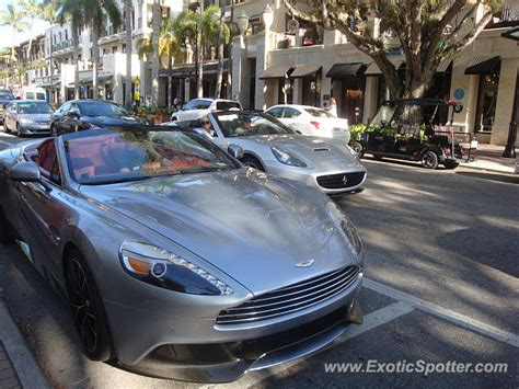 Aston Martin Of Naples by Aston Martin Vanquish Spotted In Naples Florida On 04 02 2014