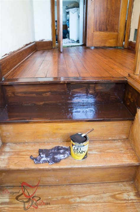woodwork paint finishes using gel stain existing stained wood designed decor