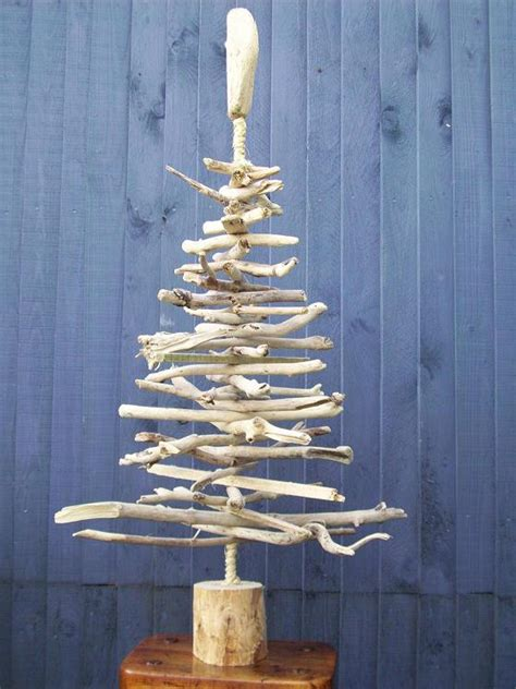 beachstring driftwood christmas trees seashell garland