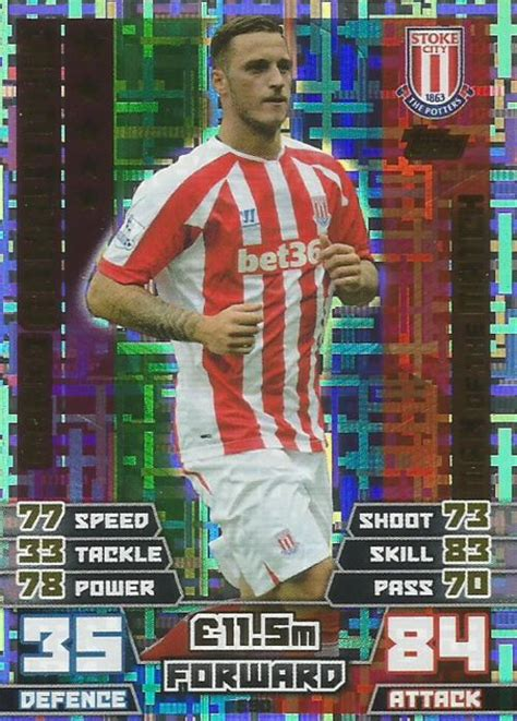 match attax 2014 2015 of trading cards marko arnautovic match attax 2014 2015