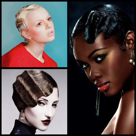Short Hair Styling for Summertime: Lacquered Finger Waves
