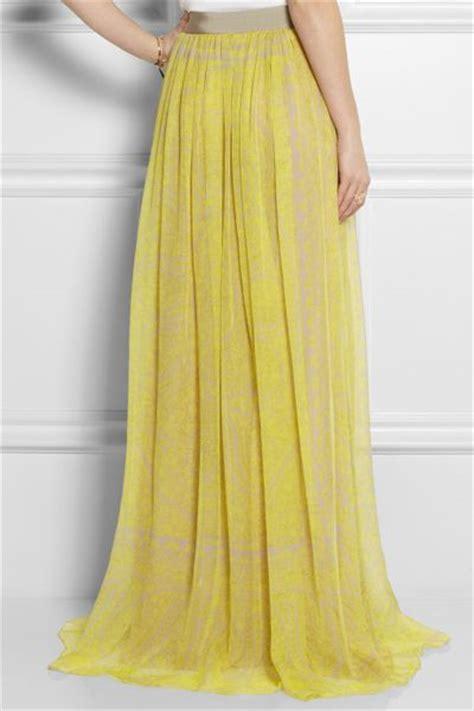 giambattista valli printed silkchiffon maxi skirt in