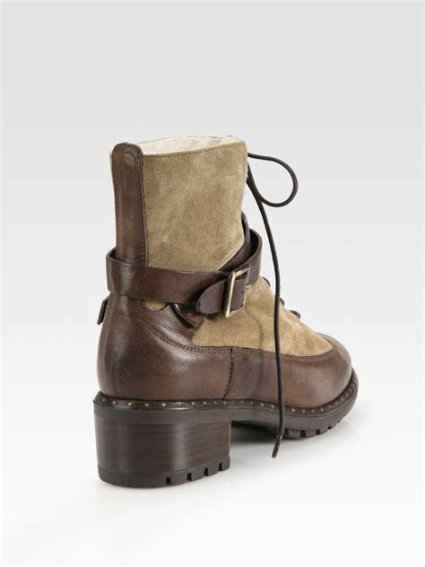 Suede Bludru Not Leather Ip55sse66s677 ugg sassari leather suede combat boots in black lyst