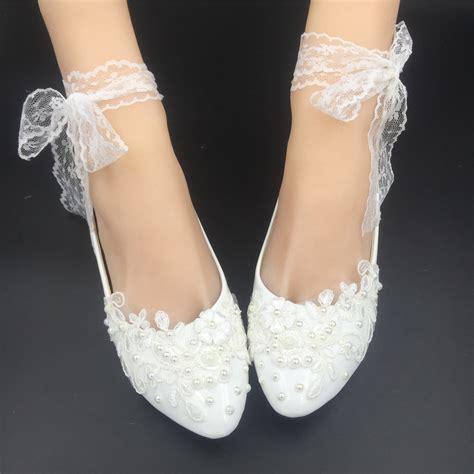 Womens Bridal Flats by Ribbon Style Bridal Ballet Flats Wedding Flat Shoes