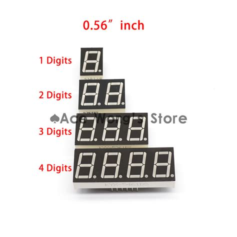 8 Digit Led Display 7 Segments 74hc595 Color Merah buy 10 digit 7 segment led battery level display