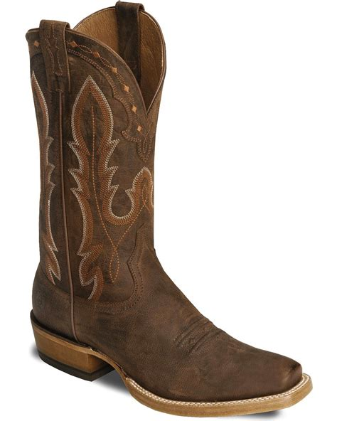 toe cowboy boots for ariat brown hotwire cowboy boots square toe country