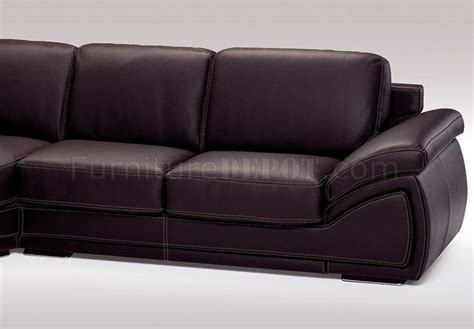 espresso leather sectional italian top grain leather modern sectional sofa holiday