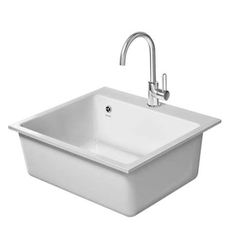 Flush Kitchen Sink Duravit Vero Flush Mounted 60f Xl 555 X 510mm Kitchen Sink 7523570037