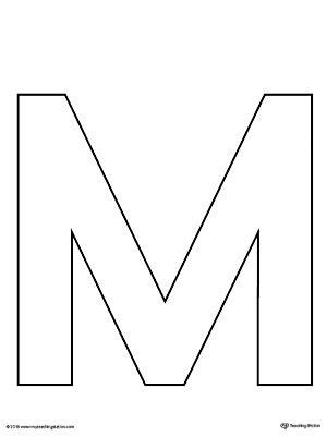 Buchstabe M Vorlage by Uppercase Letter M Template Printable Myteachingstation