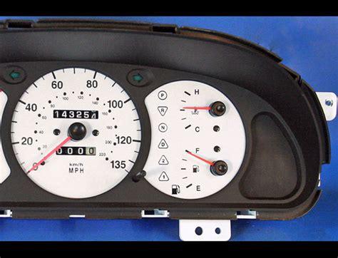 how cars run 2000 kia sephia instrument cluster 2000 2001 kia spectra white face gauges whitegauges net
