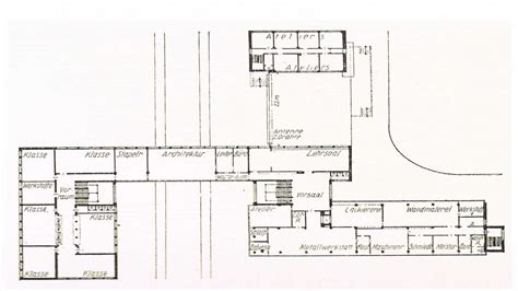 Building Plans by Bauhaus Architecture Bauhaus Building Floor Plan Bauhaus