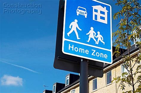 a088 00185 home zone sign within a new housing d