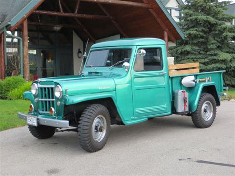 willys jeep truck green bob welch