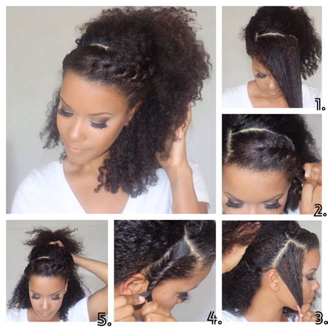 tutorial natural hair styles 22 trendy easy summer hairstyles curly pony and spring