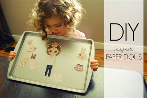 How To Make Magnetic Paper Dolls - diy magnetic paper dolls miss