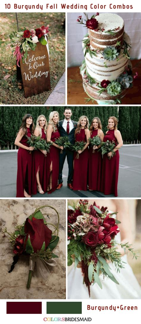 wedding colors for fall 10 popular burgundy fall wedding colors combos
