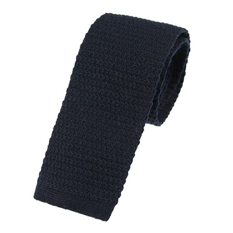 navy blue knit tie navy blue wool knitted tie extras