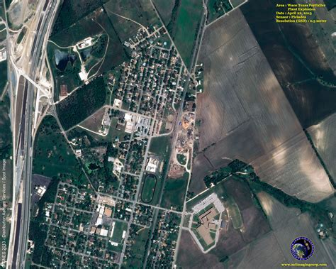 west texas explosion map pleiades 1b satellite image texas plant explosion satellite imaging corp
