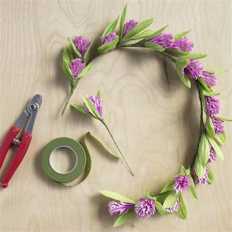 68 flower crown ideas to complete your wedding hairstyle diy paper flower crown martha stewart weddings