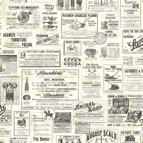 Country Kitchen Theme Ideas by Ctr64271 Cream Vintage Newspaper Adamstown By Chesapeake