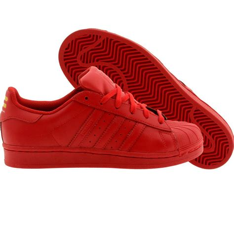 adidas red shoes adidas x pharrell big kids superstar supercolor red