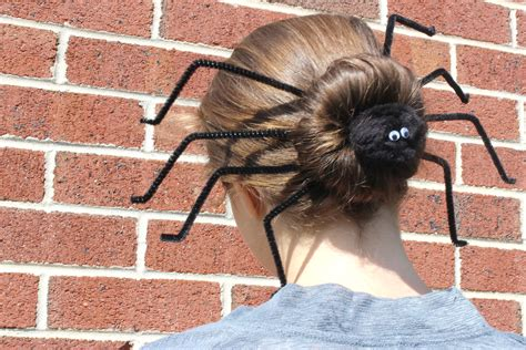 epic spider bun hairstyle with spiderweb included image gallery spider bun