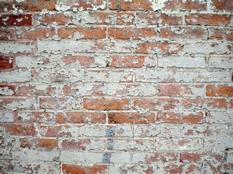 brick wall peeling paint free stock photo domain pictures