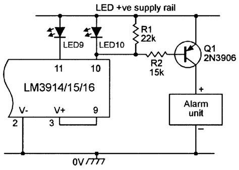 lm3914 circuit diagram circuit and schematics diagram