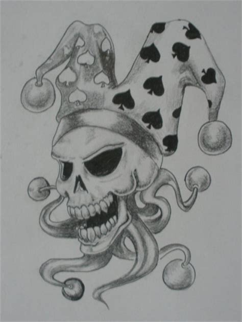 clown tattoo designs black white 12 jester cap tattoos
