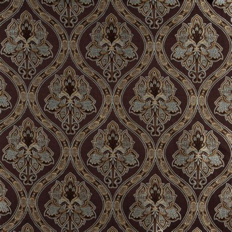 blue and gold upholstery fabric a0016f brown light blue gold and ivory brocade
