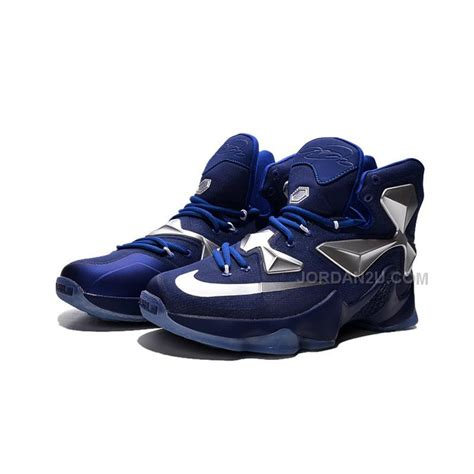 lebron nike basketball shoes cheap nike lebron 13 blue metallic silver basketball