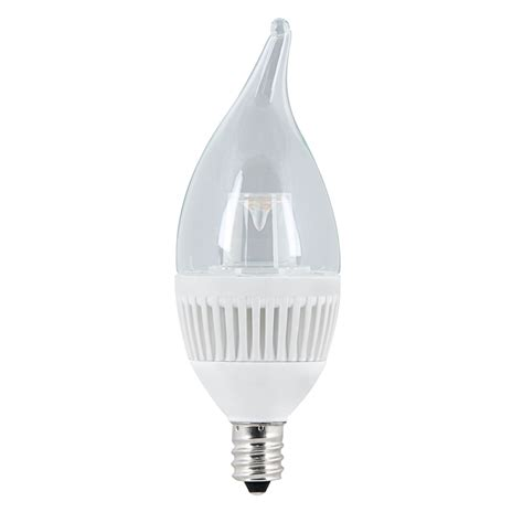 Utilitech Led Light Bulbs Shop Utilitech 4 8 Watt 40w Equivalent Candelabra Base E 12 Warm White Dimmable Decorative