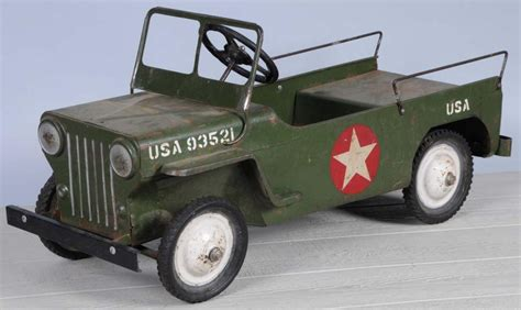 is jeep an american made car pressed steel army jeep pedal car