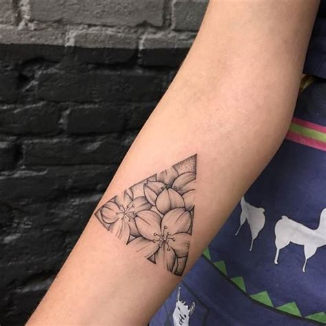 floral triangle tattoo venice tattoo art designs