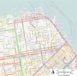 San Francisco Trolley Map by Sf Cable Car Route Map Bing Images