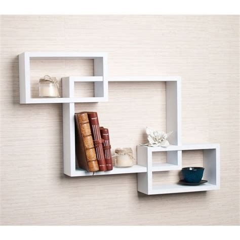 unusual shelving unique wall shelf wood white contemporary floating shelves