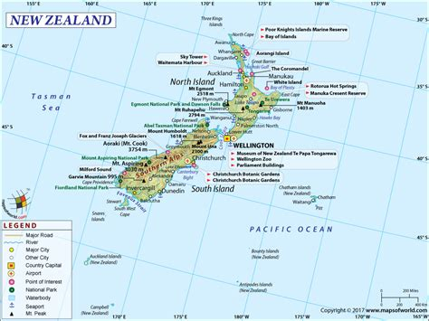 us area code from nz new zealand map